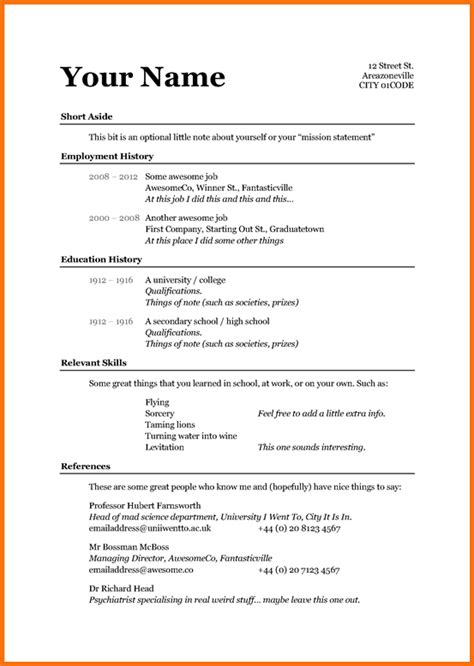 How To Write A Simple Resume by Format Freshers Resume Exle Simple Sle Exles