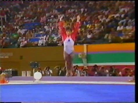 Lou Retton Olympic Floor Routine by Lou Retton Usa 1984 Olympics Compulsory Floor