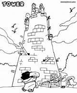 Tower Babel Coloring Sheet Building Printable Sunday Colorings Menara Colorir Disimpan Dari Yahoo sketch template