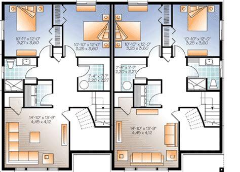 family home floor plans sleek modern multi family house plan 22330dr