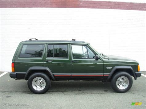 1996 Moss Green Pearl Jeep Cherokee Sport 18642954 Photo