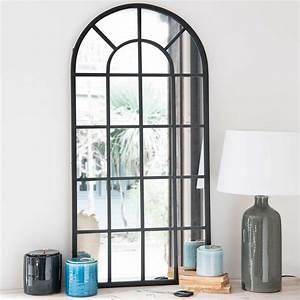 Miroir Metal Noir : miroir en m tal noir 61x122cm volda maisons du monde ~ Teatrodelosmanantiales.com Idées de Décoration