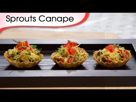 indian canape sprout canapes indian vegetarian tangy