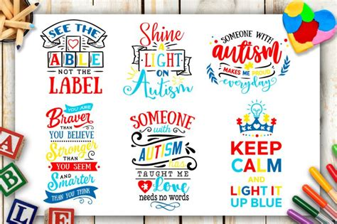 You can copy, modify, distribute and perform the work, even for commercial purposes, all without asking permission. Autism Bundle - 40 autism SVG - Autism awareness By ...
