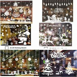 Christmas Xmas Santa Removable Window Stickers Art Decal