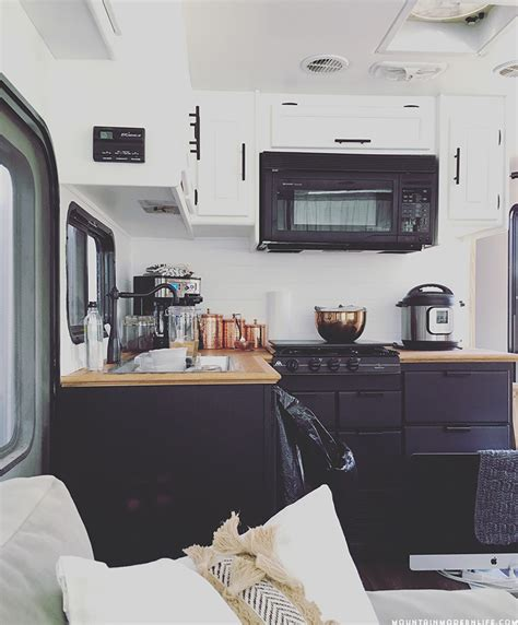 cer trailer kitchen ideas the progress of our rv kitchen cabinets mountain modern