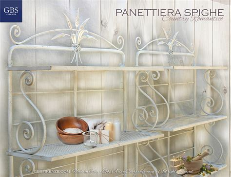 etagere ferro panettiera spighe gbs firenze casa