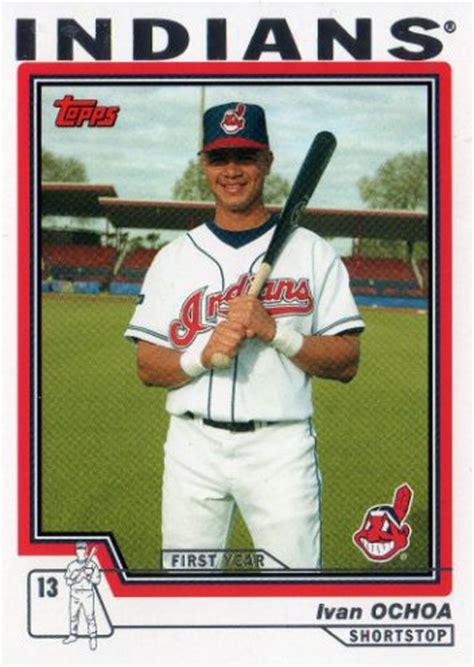 Baseball Trading Card Cleveland Indians Ivan Ochoa T198 Topps Traded 2004 Mlb
