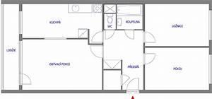Půdorys panelového bytu 3+1