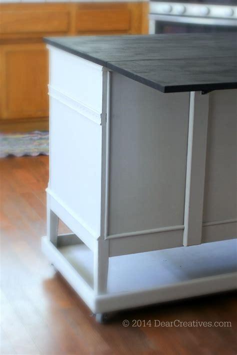 dresser  kitchen island cart diy  chalkyfinish
