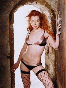 Alyson Hannigan Hot Lingerie Stocking Sexy Body 32x24 Wall