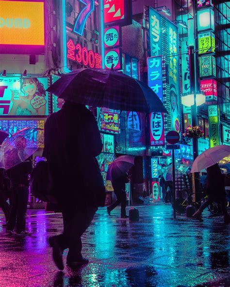 tokyo nights liam wongs neon lit photographs   rain