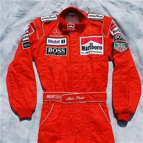 alain prost signed  worn race suit overalls