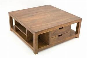 Table Basse Tiroir : table basse palissandre massif 2 tiroirs mobilier ~ Teatrodelosmanantiales.com Idées de Décoration