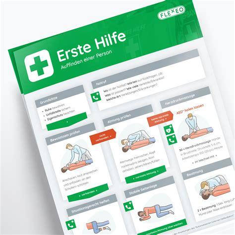 Verfassen und speichern sie die nachricht als vorlage ferner verwenden sie sie danach wieder, wenn sie möchten. FLEXEO - Erste Hilfe Anleitung - DIN A2 Plakat aus Papier ...