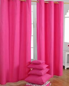 Gardinen Mit ösen : gardinen mit sen unifarben pink im 2er set homescapes ~ Indierocktalk.com Haus und Dekorationen