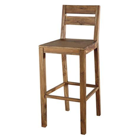 chaise de bar maison du monde chaise de bar en bois de sheesham massif stockholm maisons du monde