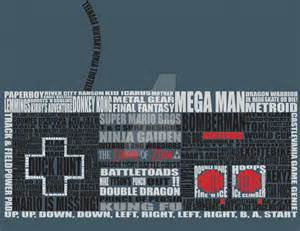 NES Video Game Controller Art