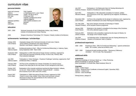 Curriculum Vitae Resume Exle by Curriculum Vitae Resume Cv