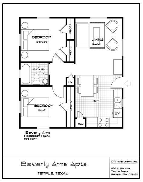 2 bedroom 1 bath find a home temple 13924 | Temple Bev 2b1b%20689sf
