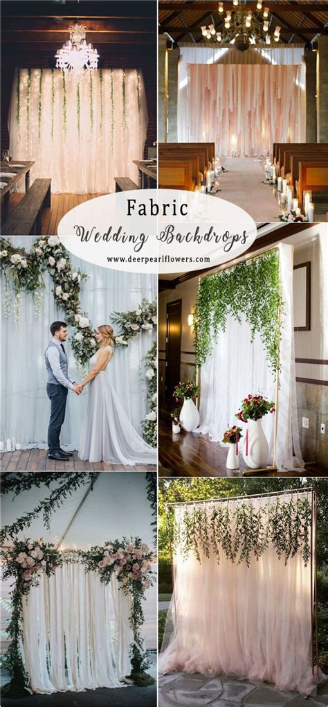 30 + Unique Wedding Backdrop Ideas for 2018 Deer Pearl