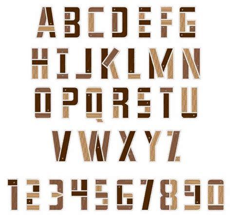 wood plank font embroidery font annthegran