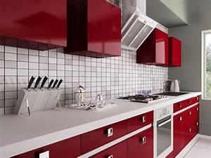 Cuisine Rouge Et Blanche 13 Ides Et Conseils Pour L39agencer