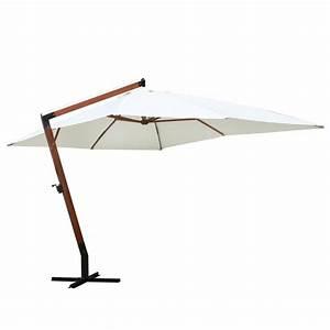 Solde Parasol Déporté : la boutique en ligne parasol d port blanc 300 x 400 cm ~ Preciouscoupons.com Idées de Décoration