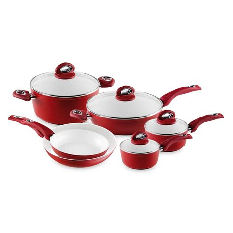 cookware ceramic bialetti aeternum aluminum nonstick piece pans cooking forged 10pcs kitchen sets induction brands beyond bath bed pfoa cooktop