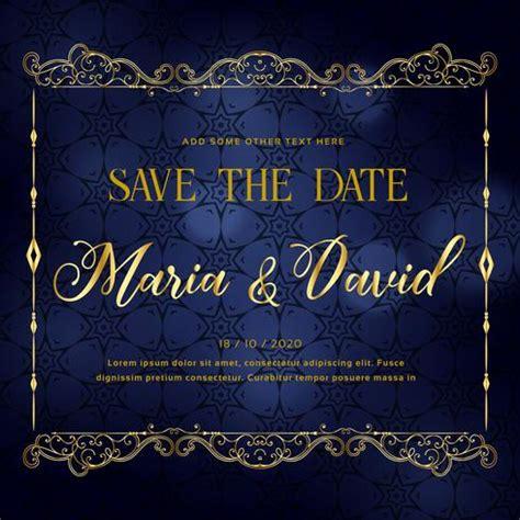beautiful wedding invitation card design  premium style