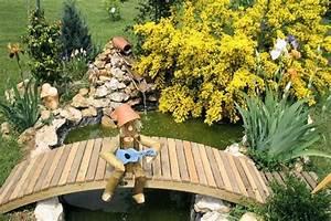 Petit Pont En Bois : pont decoration jardin domino panda ~ Melissatoandfro.com Idées de Décoration