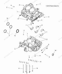 Polaris Atv 2015 Oem Parts Diagram For Engine  Crankcase