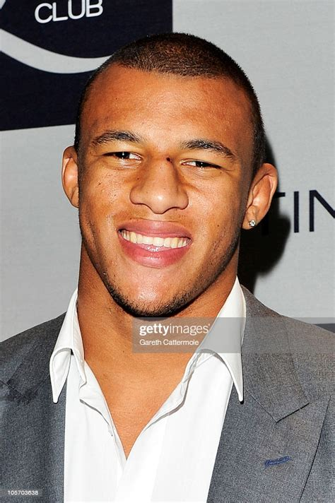 professional rugby player courtney lawes attends