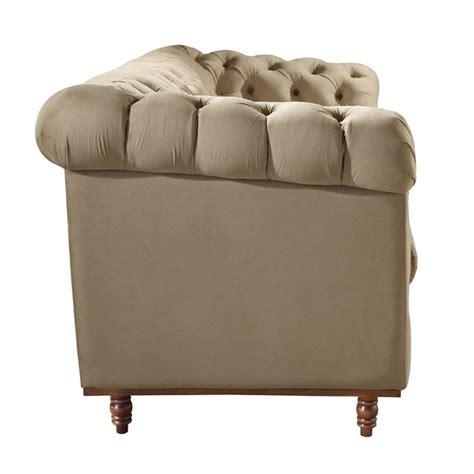 sofa de veludo sof 225 3 lugares 10 veludo bege