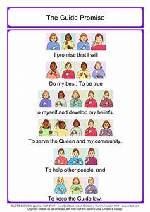Colour New Guide Promise With British Sign Language  Bsl