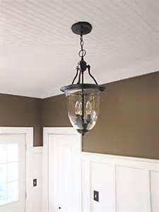3 00 brass pendant light turned into pottery barn style beneath my