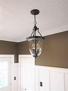 Brass pendant light turned into pottery barn style
