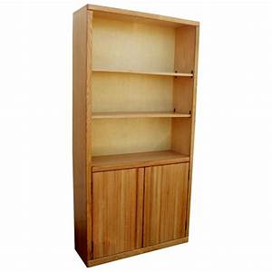 """Contemporary 36"""" x 72"""" Bookcase with Doors, Light ..."""
