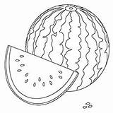 Watermelon Coloring Cantaloupe Template Pages sketch template