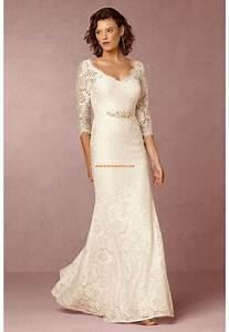 robe de mariee avec manches mi longue simple avec un style With robe de mariée mi longue