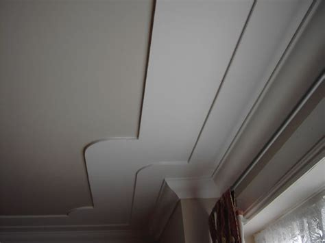 A 'double' Step Down Coved Ceiling Feature Built Onto A