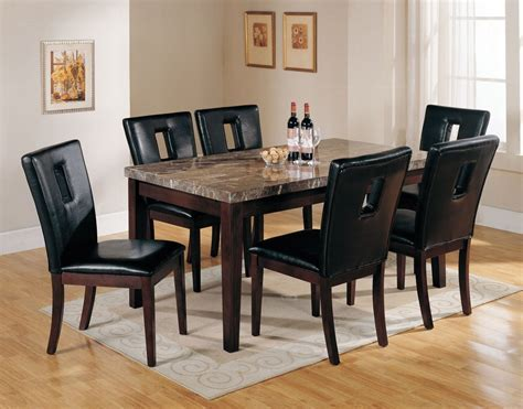 Black Marble Top Dining Table Set Lowest price   Sofa