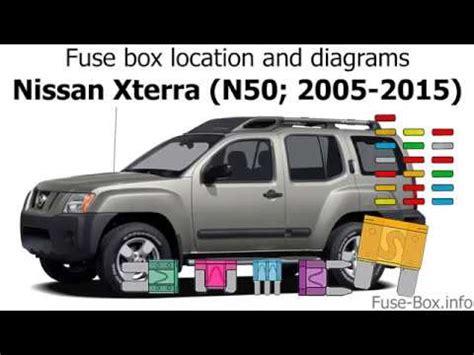 Fuse Box Location Diagrams Nissan Xterra