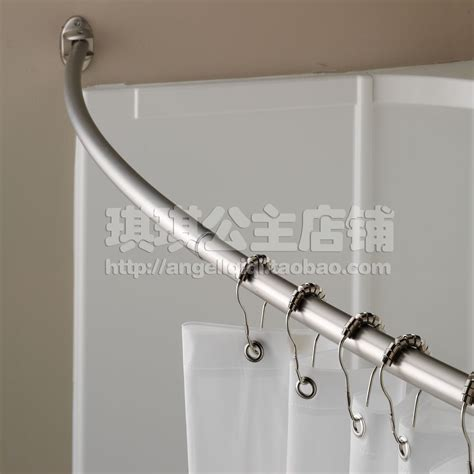 2014 fashion elegant luxury vari bow curved shower curtain