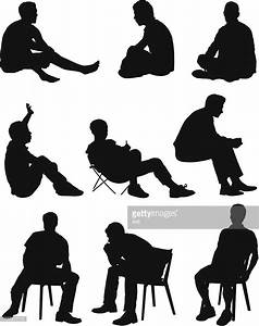 Multiple Images Of A Man Sitting Vector Art | Getty Images