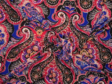 Single Jersey Fabric - Paisley Print