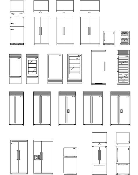 bloc cuisine autocad archblocks autocad refrigerator block symbols drafting