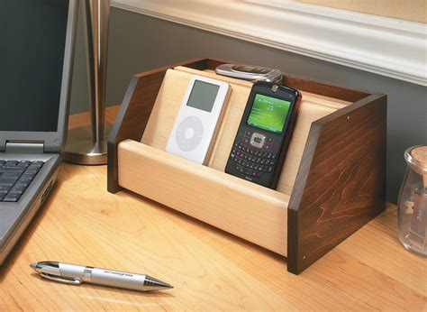 cell phone charging station woodworking project