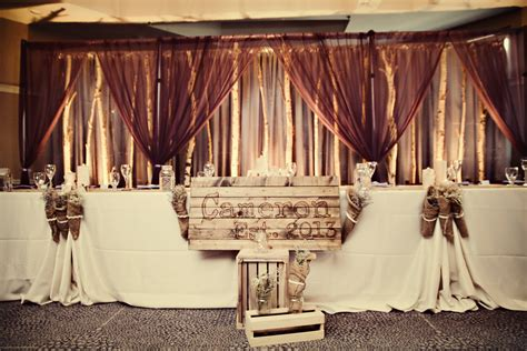 rustic wedding backdrops rustic wedding birch tree backdrops tammy and jason s table with our rustic birch tree