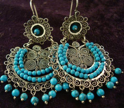 mexican chandelier earrings taxco mexican silver beaded multi filigree earrings